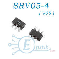 Защитный диод супрессор сборка SRV05-4 V05  SOT-23-6 Semtech