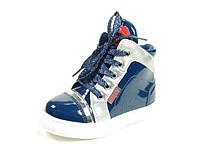 Демисезонные ботинки лаковые для девочки р.21-26 ТМ Jong Golf,код A-2558-1 Синий