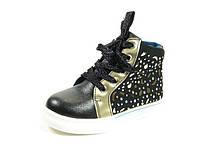 Демисезонные ботинки, стильная, удобная обувь для девочки р.27-32 ТМ Jong Golf, код B-2563-0 Черный