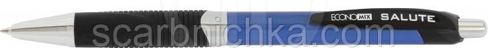 "Ручка автоматическая ""Economix"" синяя ""Salute"" E10173, фото 2"