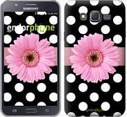 """Чехол на Samsung Galaxy J7 J700H Горошек 2 """"2147c-101"""""""