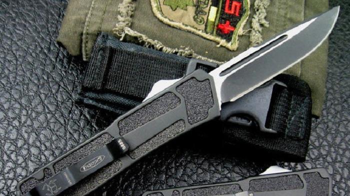 """Автоматический фронтальный нож """"COMBAT"""". """"Microtech"""" (США)"""