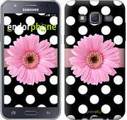 """Чехол на Samsung Galaxy J5 J500H Горошек 2 """"2147c-100"""""""