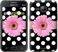 """Чехол на Samsung Galaxy J1 J100H Горошек 2 """"2147c-104"""""""