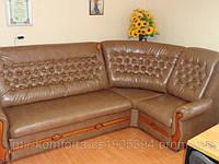Перетяжка углового дивана с пиковкой