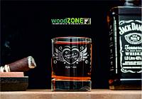 Именной стакан для виски «За любовь»