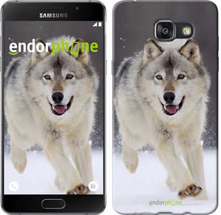 "Чехол на Samsung Galaxy A7 (2016) A710F Бегущий волк ""826u-121"""