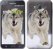 """Чехол на Samsung Galaxy J7 J700H Бегущий волк """"826c-101"""""""