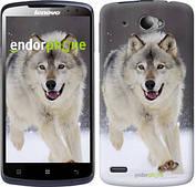 """Чехол на Lenovo S920 Бегущий волк """"826c-53"""""""
