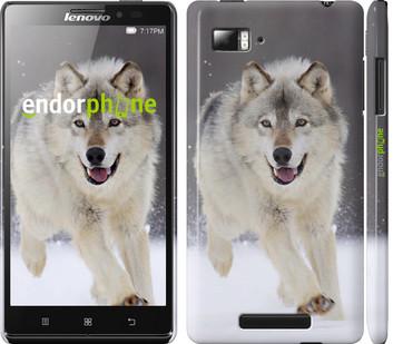 """Чехол на Lenovo Vibe Z K910 Бегущий волк """"826c-85"""""""