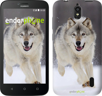 "Чехол на Huawei Ascend Y625 Бегущий волк ""826u-161"""