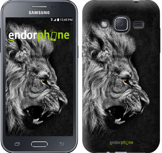 "Чехол на Samsung Galaxy J2 J200H Лев ""1080c-190"""