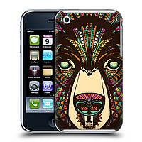 Пластиковый чехол для iPhone 3G/3GS узор Ацтекский медведь
