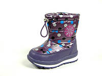 Зимние детские дутики, сапоги для девочки р.23,30 ТМ Tom.M, код C-T08-16-F