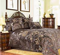 Ткань для постельного белья, перкаль (хлопок) Музей коричневый