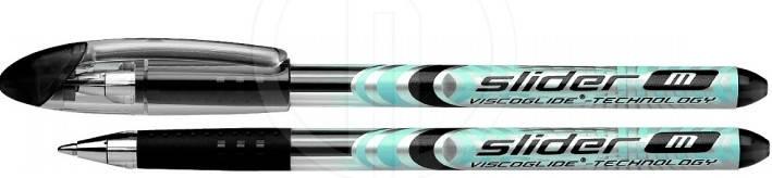"""Ручка шариковая """"Schneider"""" черная 151101 """"Slider M"""", фото 2"""