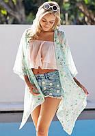 Женская легкая платье туника цветы