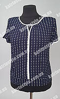 Нарядная женская блуза в горох из стрейч-шифона