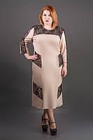 Платье Грация (ажур) ниже колена с гипюром большого размера 54-60 батал