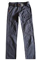 Котоновые брюки с ремнем для подростка; 164 размер
