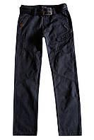 Котоновые брюки с ремнем для подростка; 140 размер