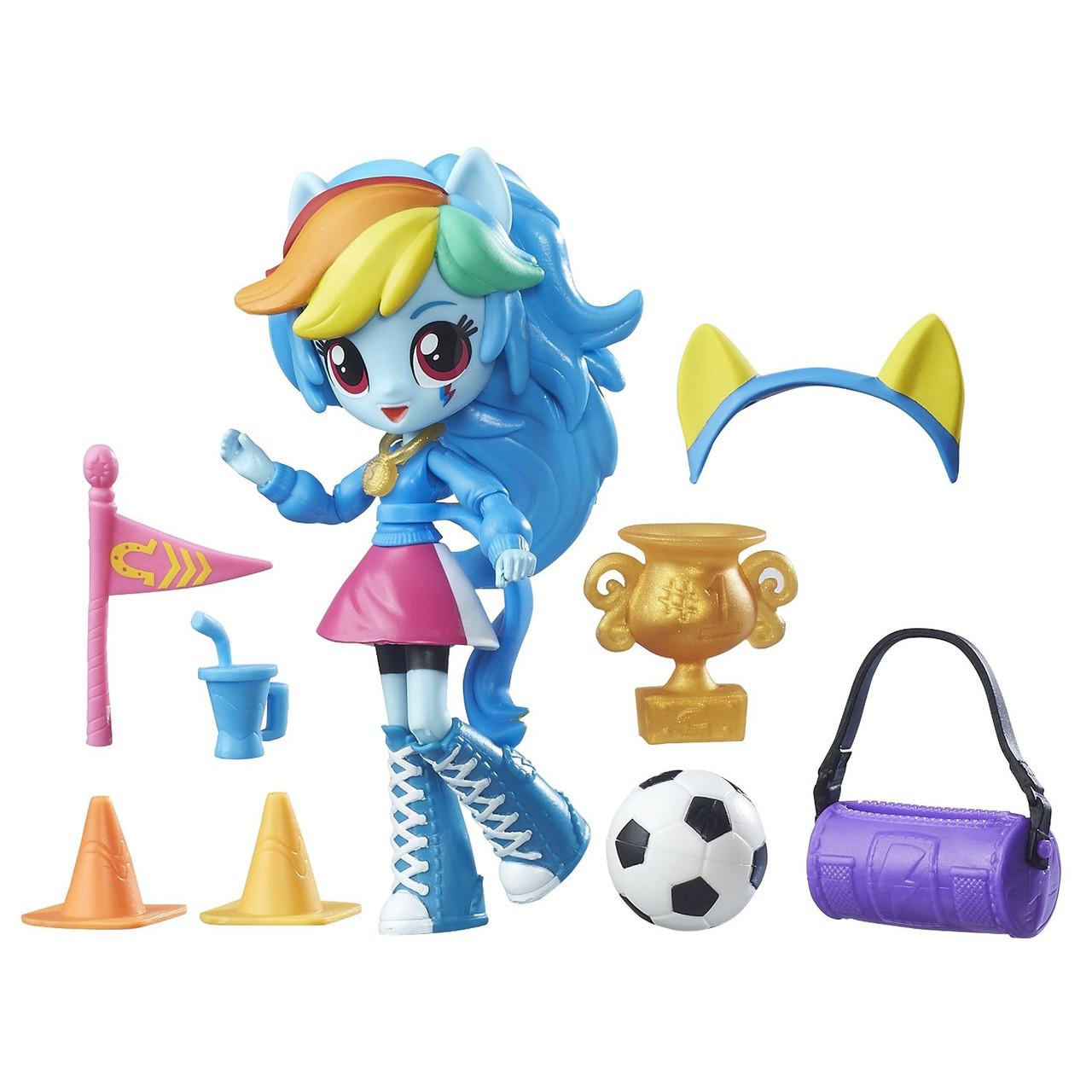 Игровой набор Рэйнбоу Дэш мини My Little Pony Equestria Girls Minis Rainbow Dash School Pep Rally