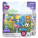 Кукла Май Литл Пони Рэйнбоу Дэш мини My Little Pony Equestria Girls Minis Rainbow Dash School Pep Rally, фото 2