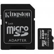 Карта памяти Kingston 64Gb microSD Class 10 UHS U1 + SD adapter (SDCIT/64GB)