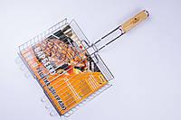 Решетка-гриль,для мангала,барбекю,малая Stenson 56×31×24×5.5 см №0086, фото 1