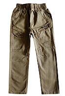 Детские брюки с поясом-резинкой; 122 размер