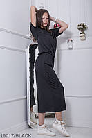 Женское платье Подіум Robin 19017-BLACK L-XXL Черный