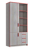 Шкаф книжный 800 Рио 2Д3Ш