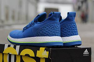 Крутые мужские кроссовки Adidas Pure Boost,синие,40р , фото 2