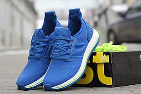 Крутые мужские кроссовки Adidas Pure Boost,синие,40р , фото 3