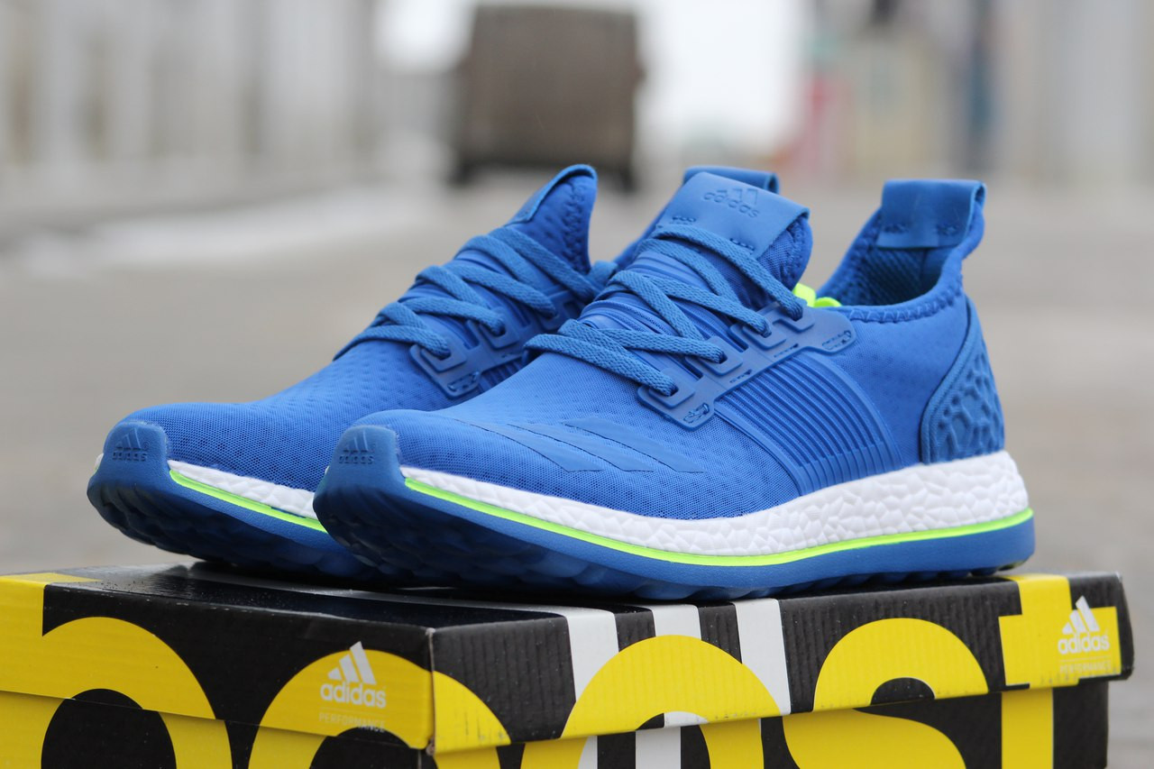 Крутые мужские кроссовки Adidas Pure Boost,синие,40р