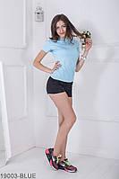 Женская футболка Подіум Iggy 19003-BLUE XS Голубой