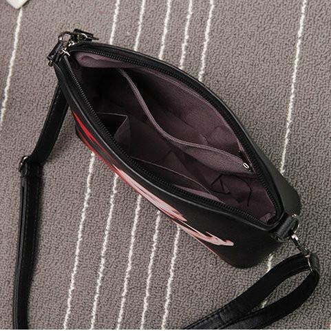 молодежная сумочка с принтом