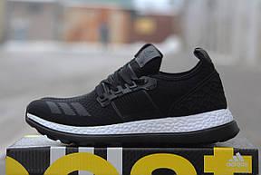 Крутые  кроссовки Adidas Pure Boost черные 39-40р, фото 2