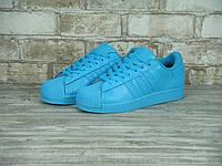 Женские кроссовки Adidas SuperStar Blue(ТОП РЕПЛИКА ААА+)