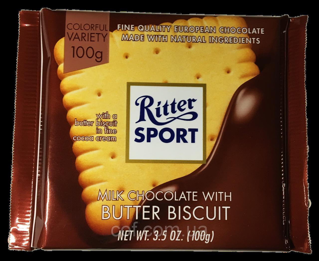 Шоколад молочный Ritter Sport Butter Biscuit 100г (Германия)