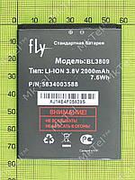Аккумулятор BL3809 2000mAh FLY IQ458 Quad Evo Tech 2 Оригинал Б/У