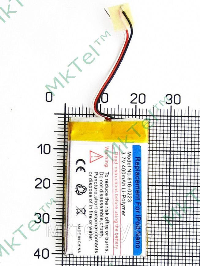 Аккумулятор 616-0223 iPod Nano 1Gen 340mAh, copy