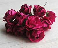 Букет роз,бумажные,розовые, 2,5 см, 6 шт
