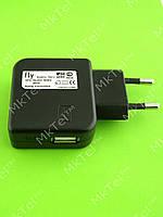 Зарядное устройство FLY USB 5V 0.5A (без usb кабеля) Оригинал Б/У Черный