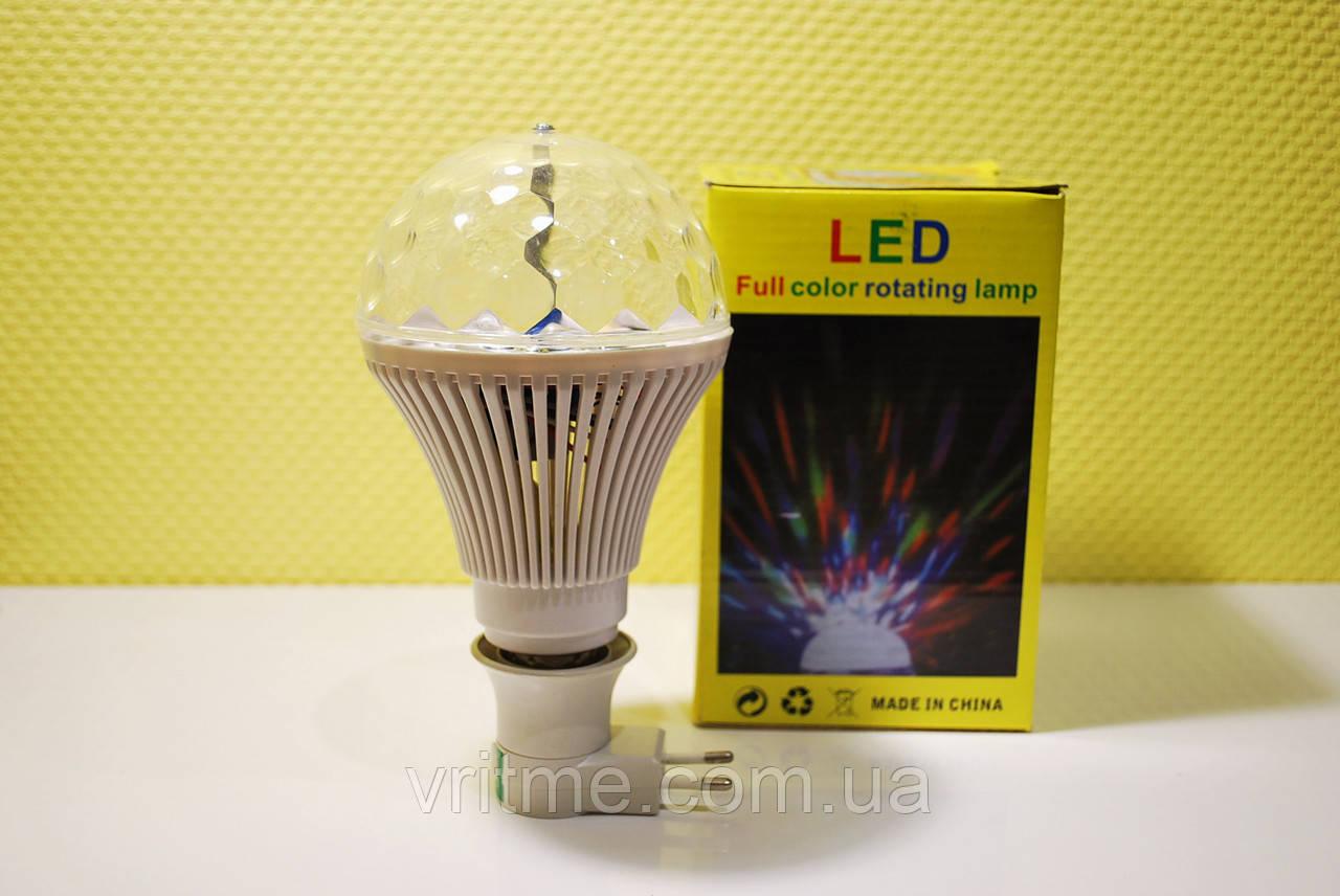Вращающаяся светодиодная диско-лампа LED Full Color Rotating Lamp(Big)