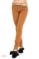 Повседневные облегающие женские джинсы с низкой посадкой и ремешком