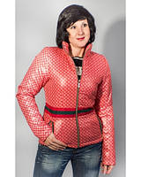 Куртка женская Gucci-style осень -весна серая, коралловая
