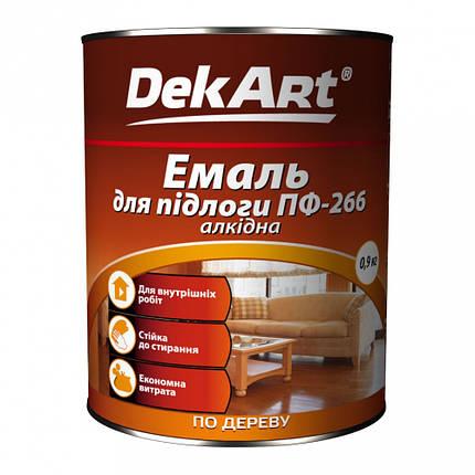 Емаль алкидная ПФ-266 красно-коричневая, 2,8кг, ТМ DekArt, фото 2
