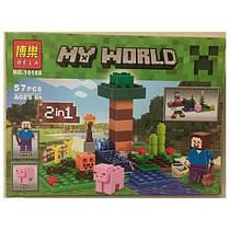 """Конструктор Bela Minecraft (Майнкрафт) 10188 """"2в1"""", 57 дет"""