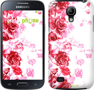 "Чехол на Samsung Galaxy S4 mini Нарисованные розы ""724c-32"""